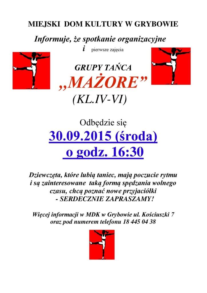 "Nabór doGrupy Tańca ""Mażore"""