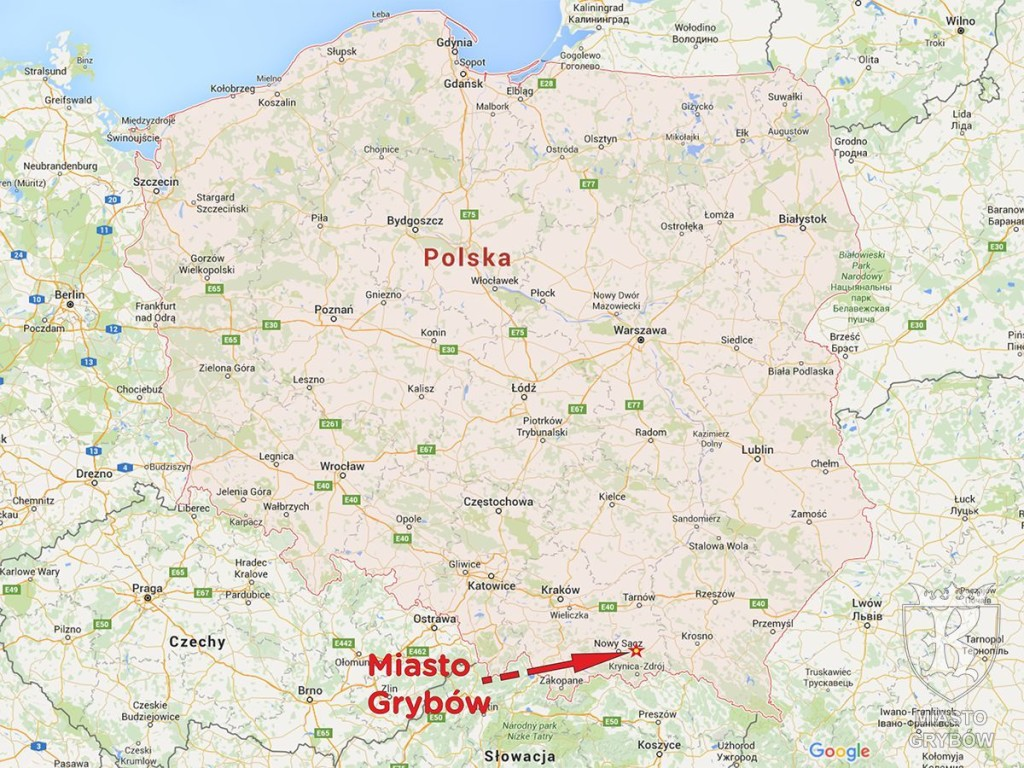 Lokalizacja Miasta Grybów na mapie Polski