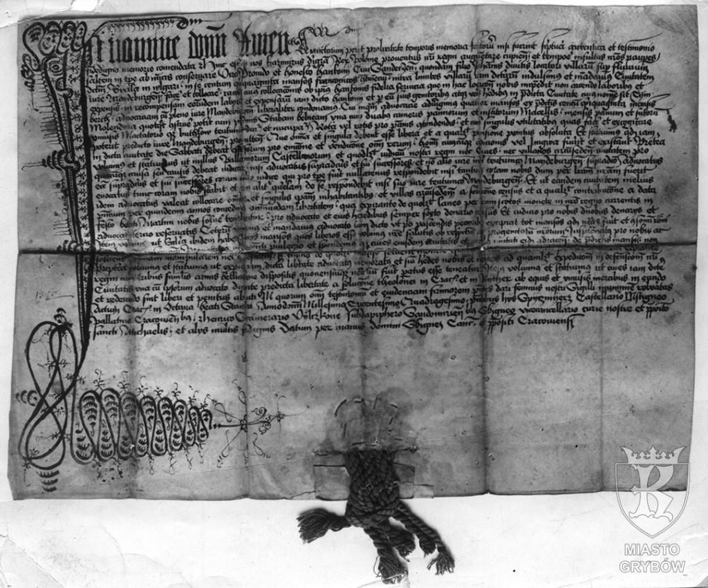 Kazimierz Wielki ''Kopia XV-wiecznego dokumentu lokacyjnego'' (15 maja 1340 rok)