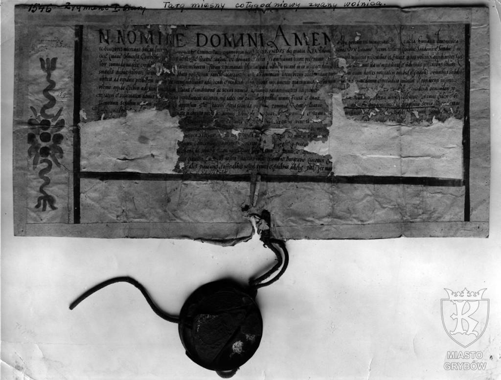 Zygmunt I Stary ''Targ mięsny cotygodniowy zwany wolnicą'' (1546)