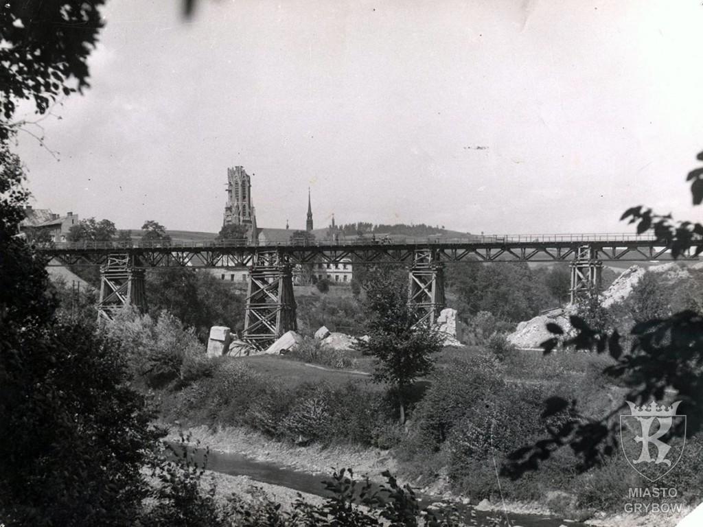 Tymczasowy most kolejowy (koniec lat 40-tych XX wieku)