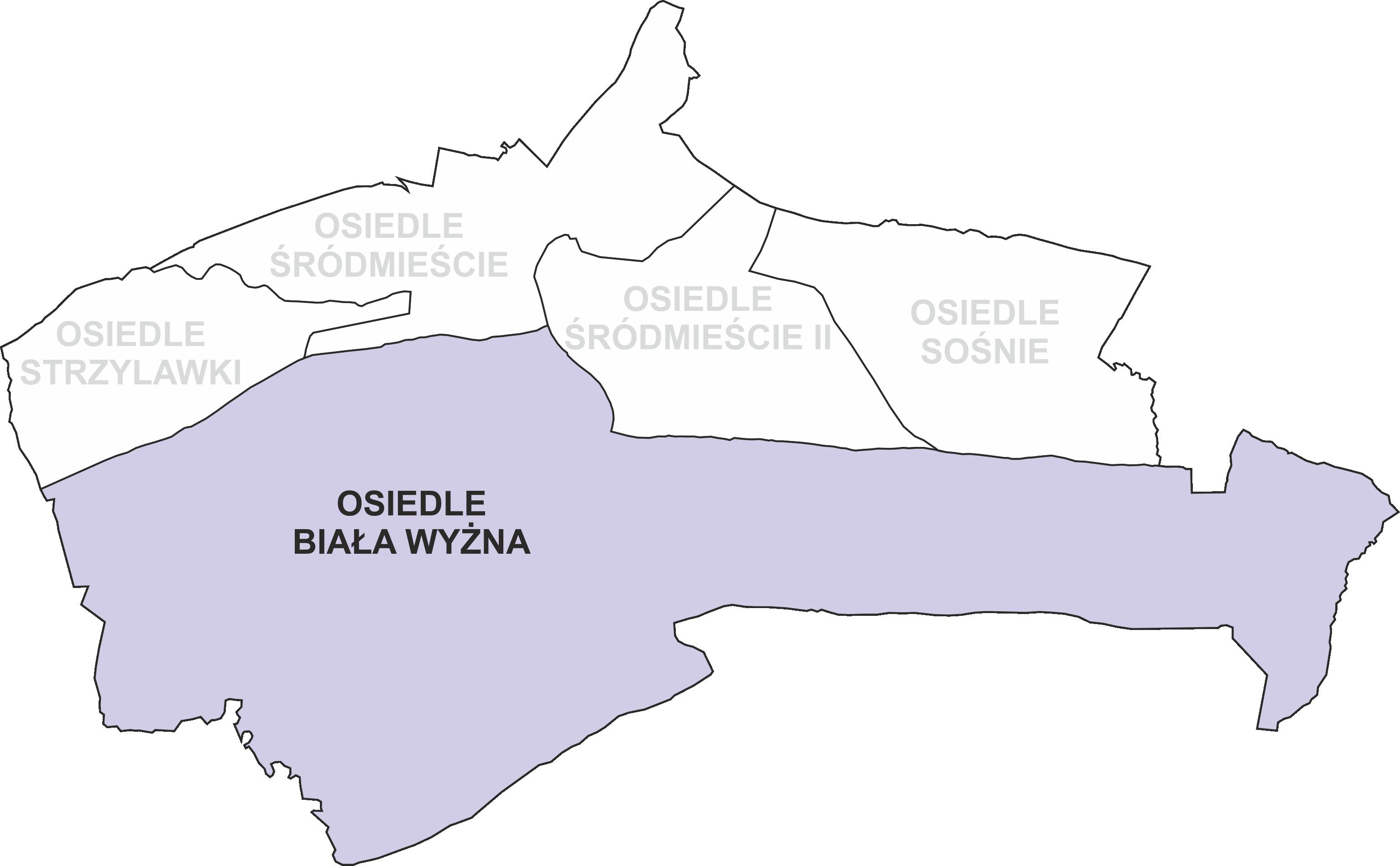 Granice Osiedla Biała Wyżna