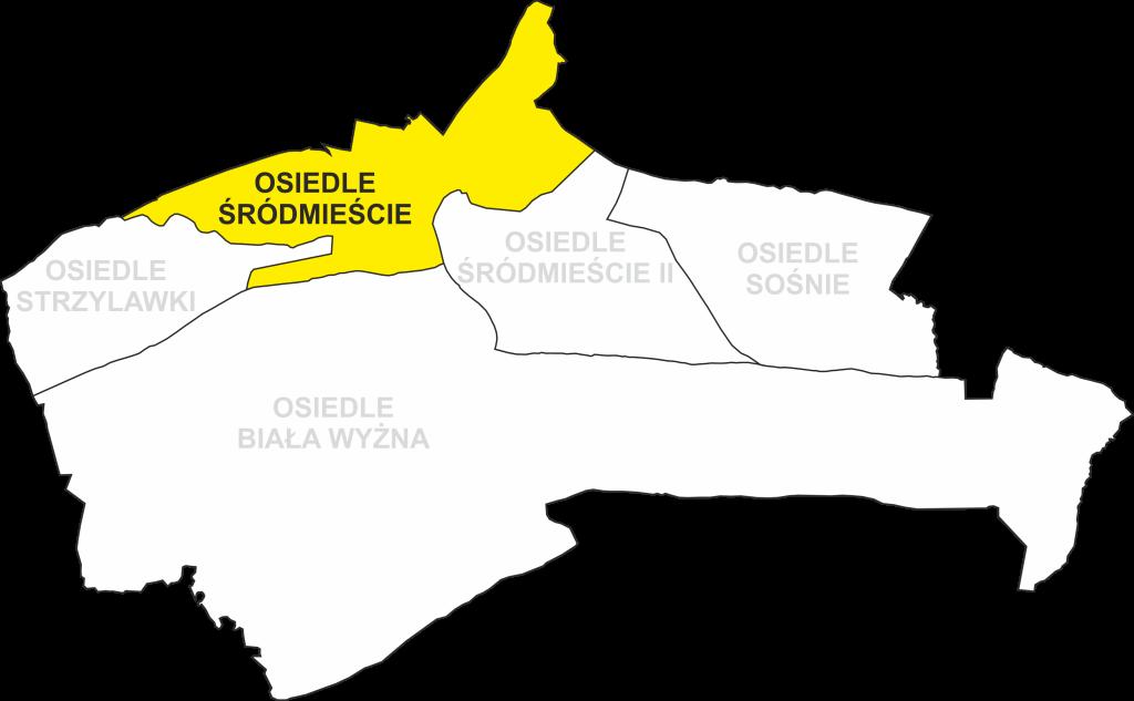 Granice Osiedla Śródmieście