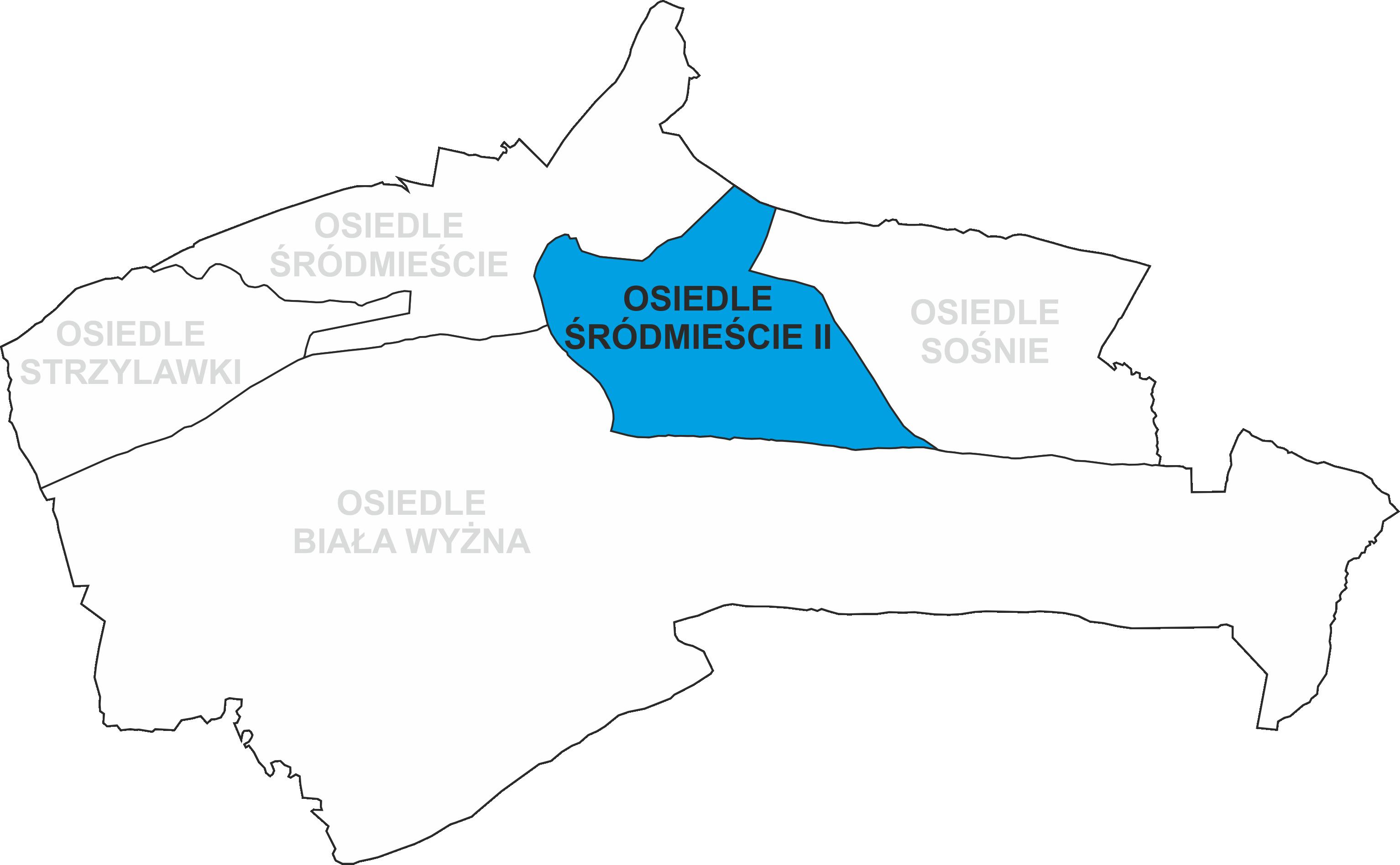 Granice Osiedla Śródmieście II