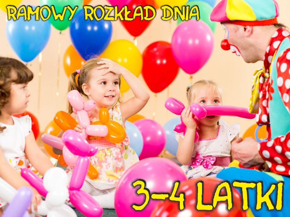 Ramowy rozkład dnia dla dzieci młodszych