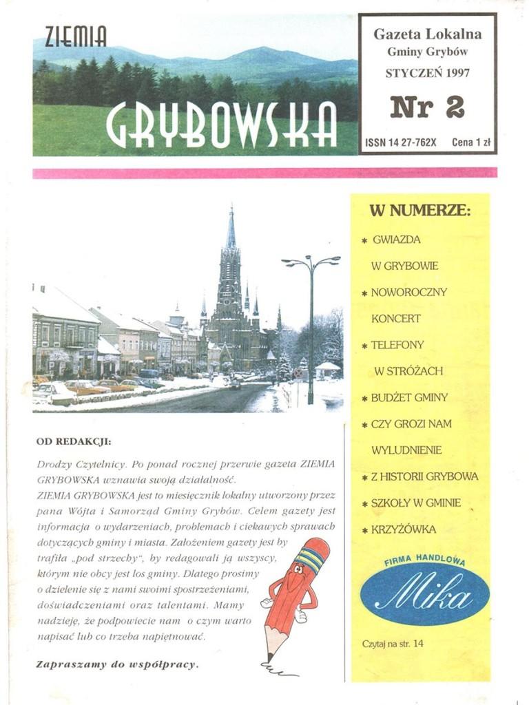 Ziemia Grybowska (nr 02) - II edycja (okładka)