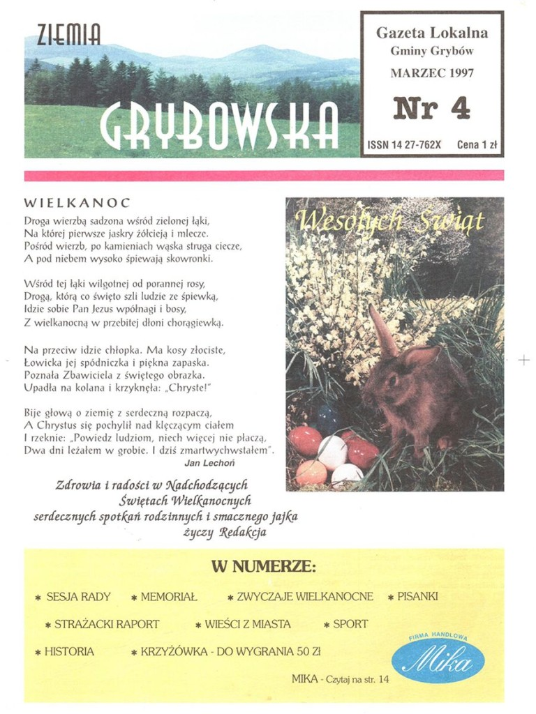 Ziemia Grybowska (nr 04) - II edycja (okładka)
