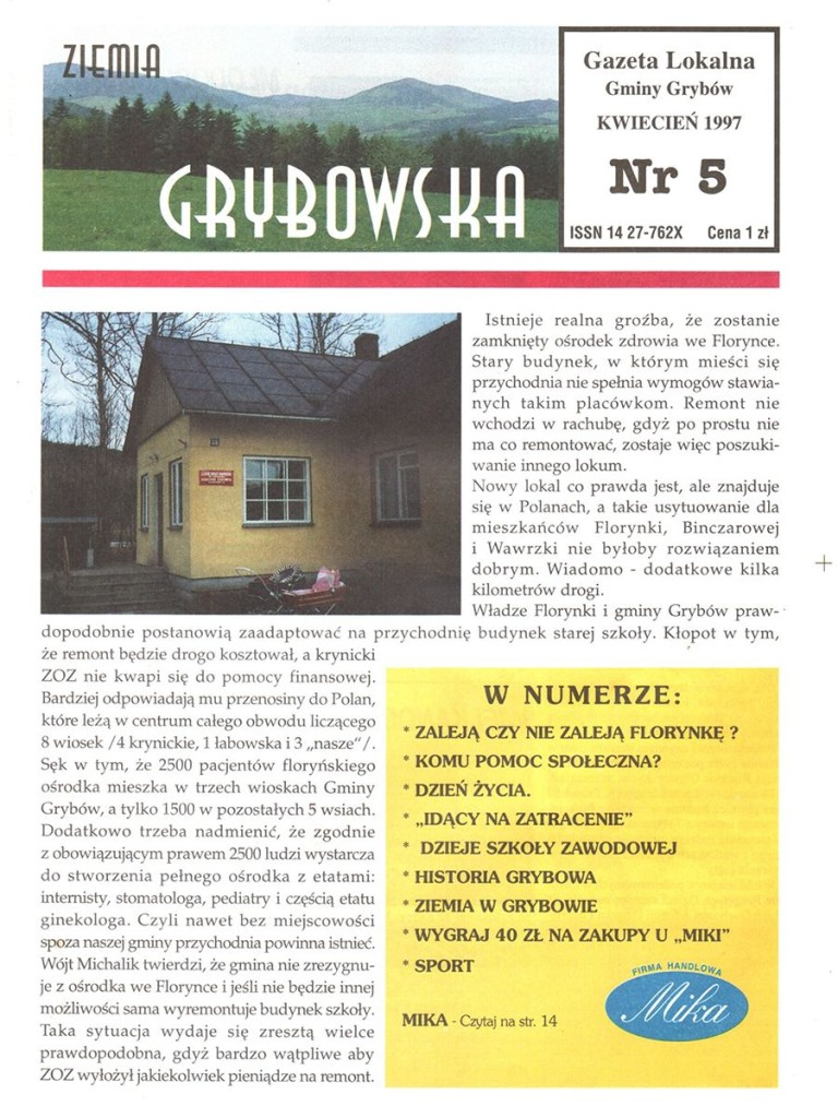 Ziemia Grybowska (nr 05) - II edycja (okładka)