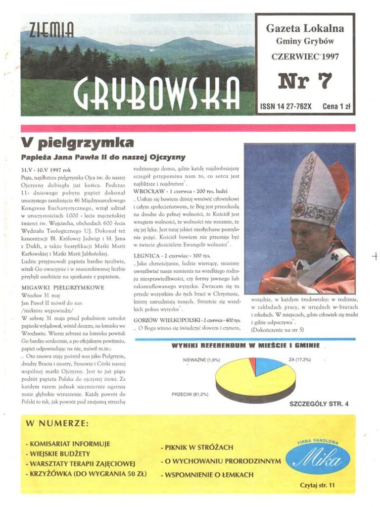 Ziemia Grybowska (nr 07) - II edycja (okładka)