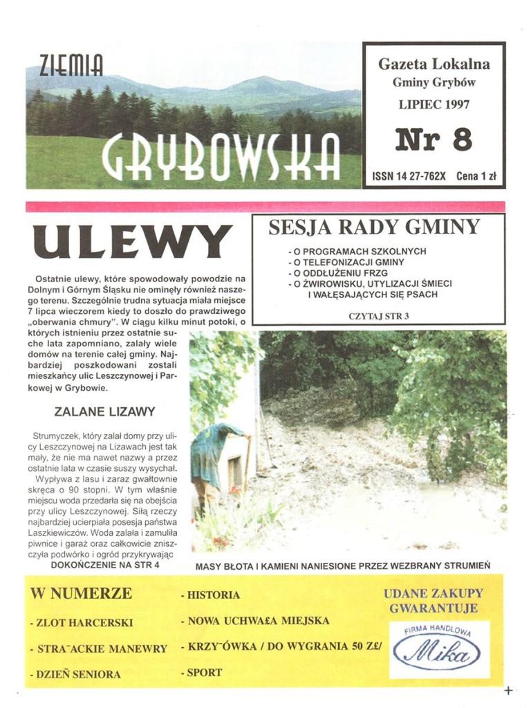 Ziemia Grybowska (nr 08) - II edycja (okładka)