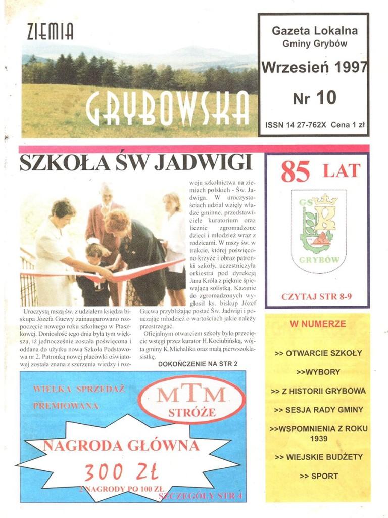 Ziemia Grybowska (nr 10) - II edycja (okładka)