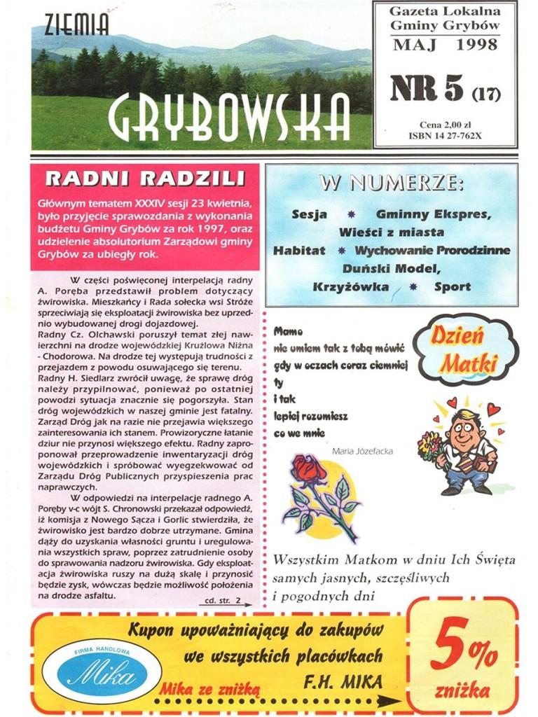 Ziemia Grybowska (nr17) - II edycja (okładka)