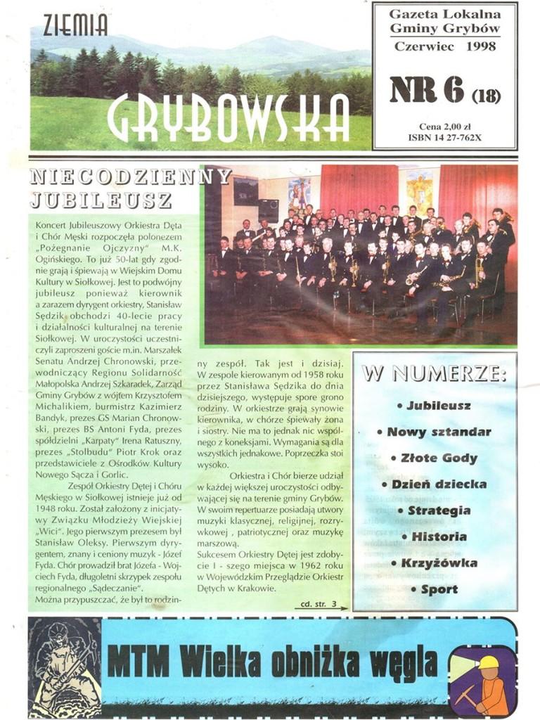 Ziemia Grybowska (nr18) - II edycja (okładka)