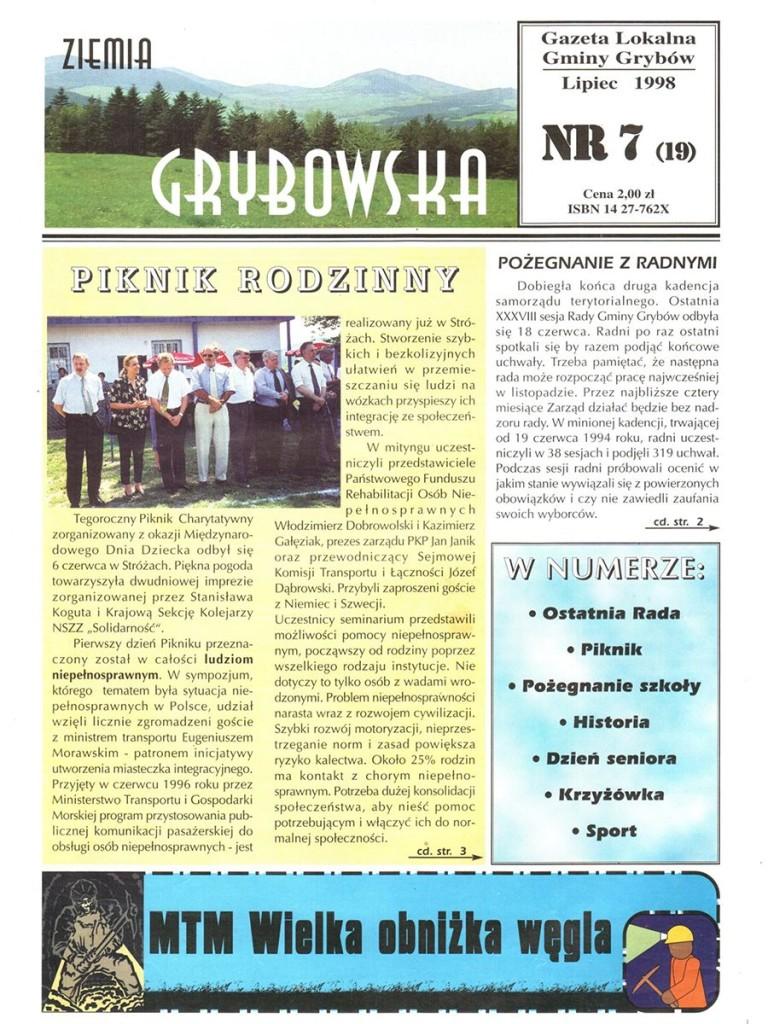 Ziemia Grybowska (nr19) - II edycja (okładka)