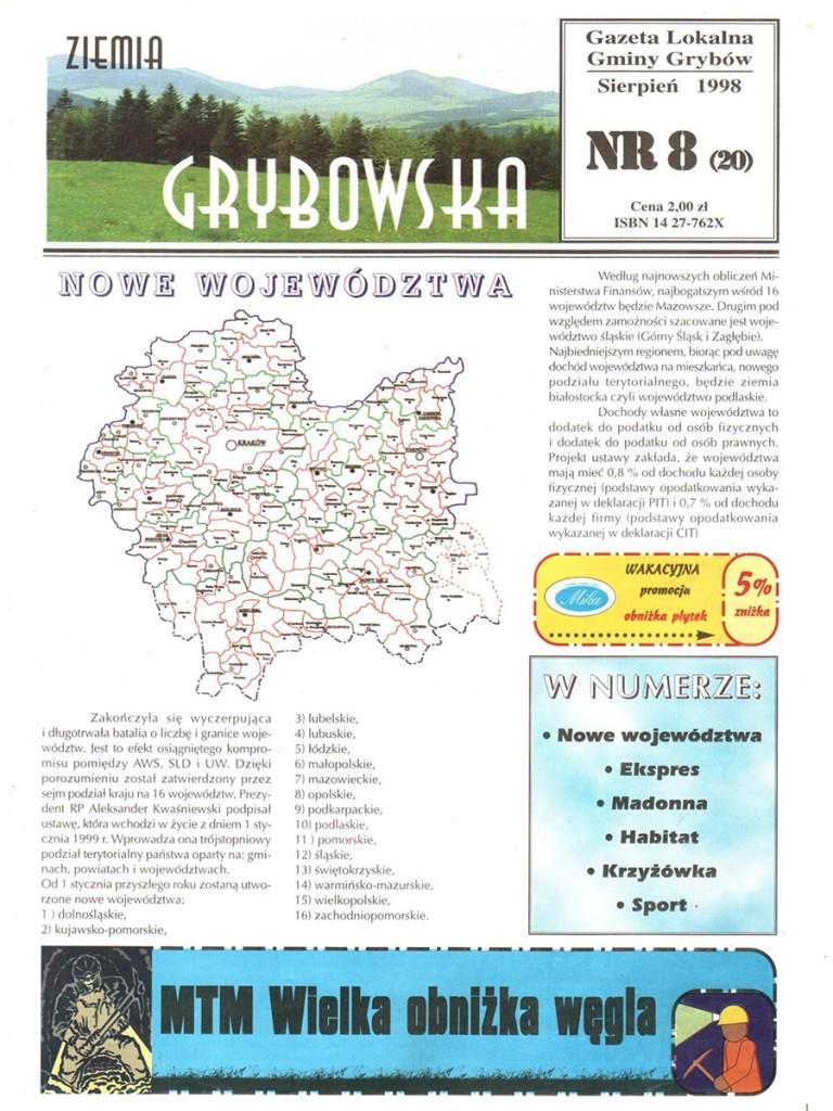 Ziemia Grybowska (nr20) - II edycja (okładka)