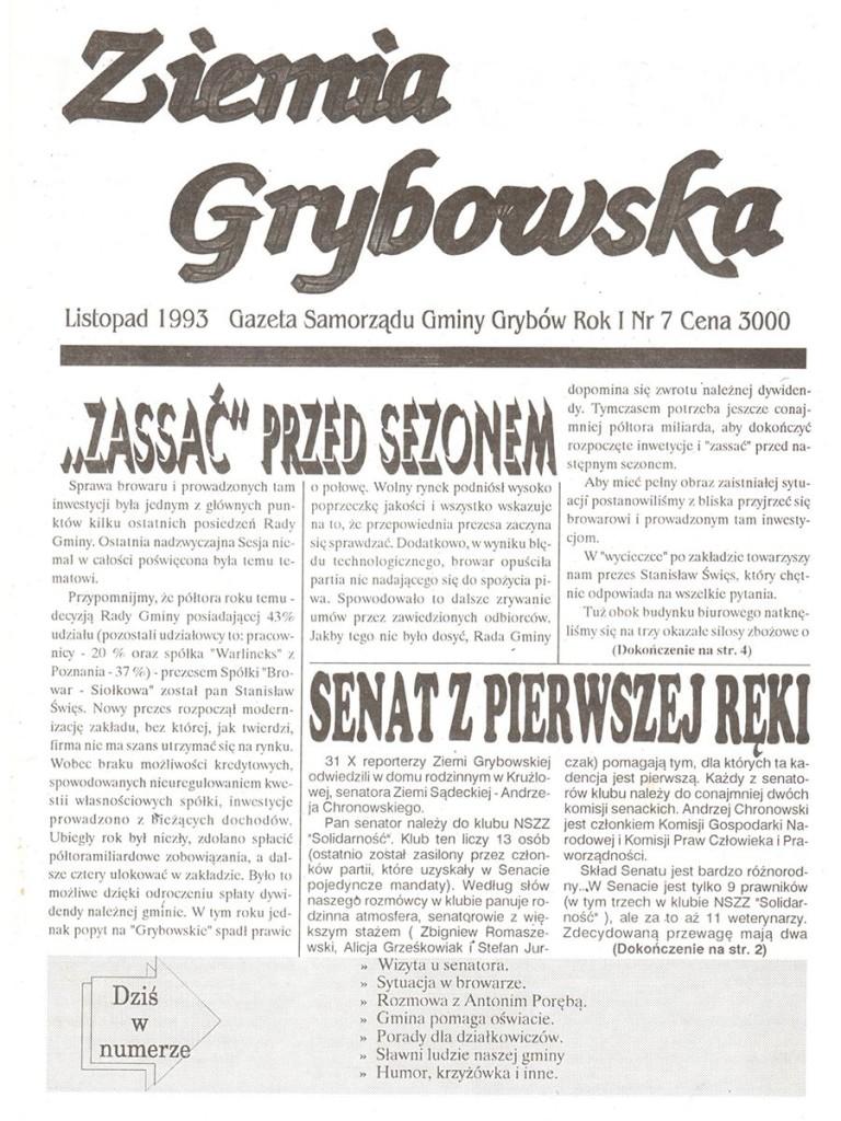 Ziemia Grybowska (nr 07) - I edycja (okładka)