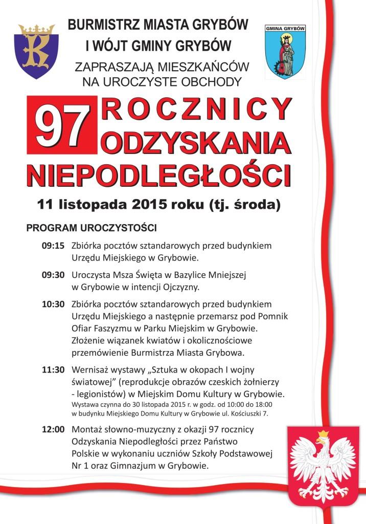 Zaproszenie naŚwięto Narodowe Niepodległości