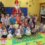 Spotkanie ze św. Mikołajem w przedszkolu