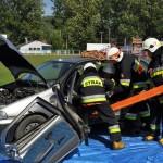 Jesień Grybowska 2015: Pokaz ratownictwa drogowego
