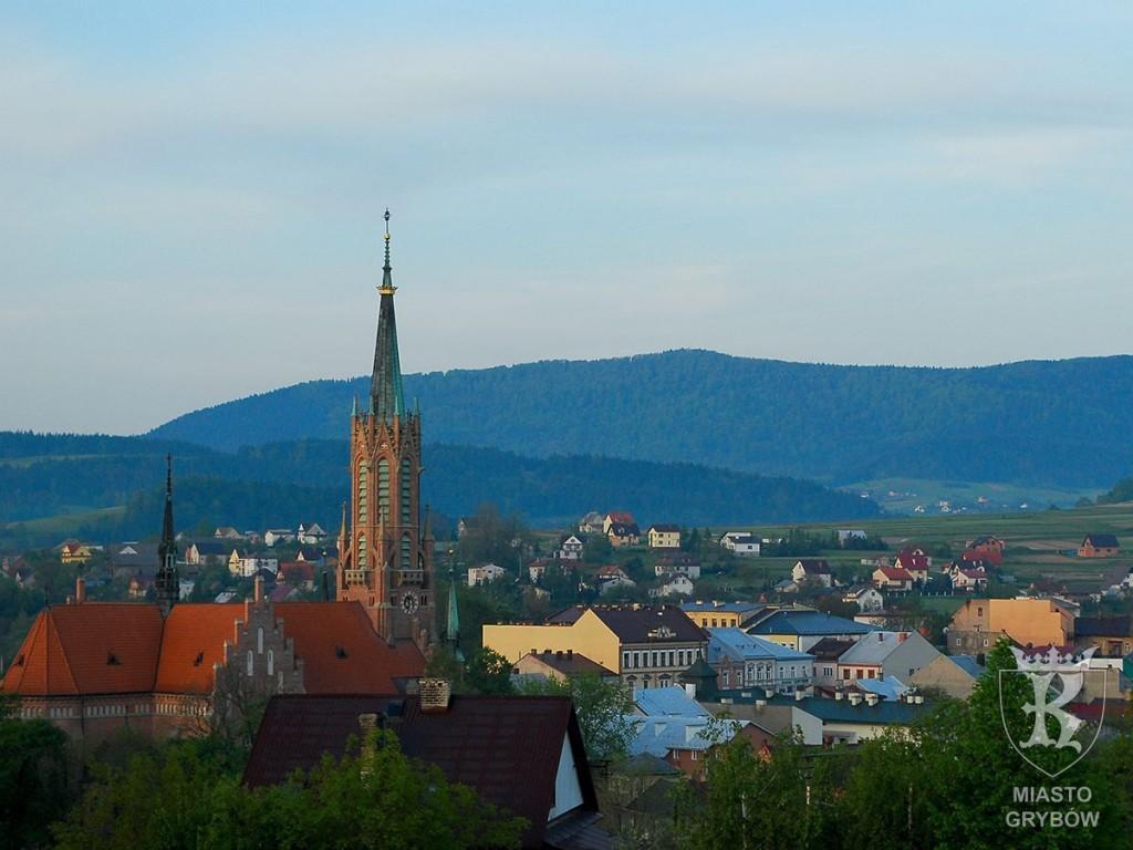 Wizytówka Grybowa: Panorama rynku, fot.Agata Pisiewicz (2009)