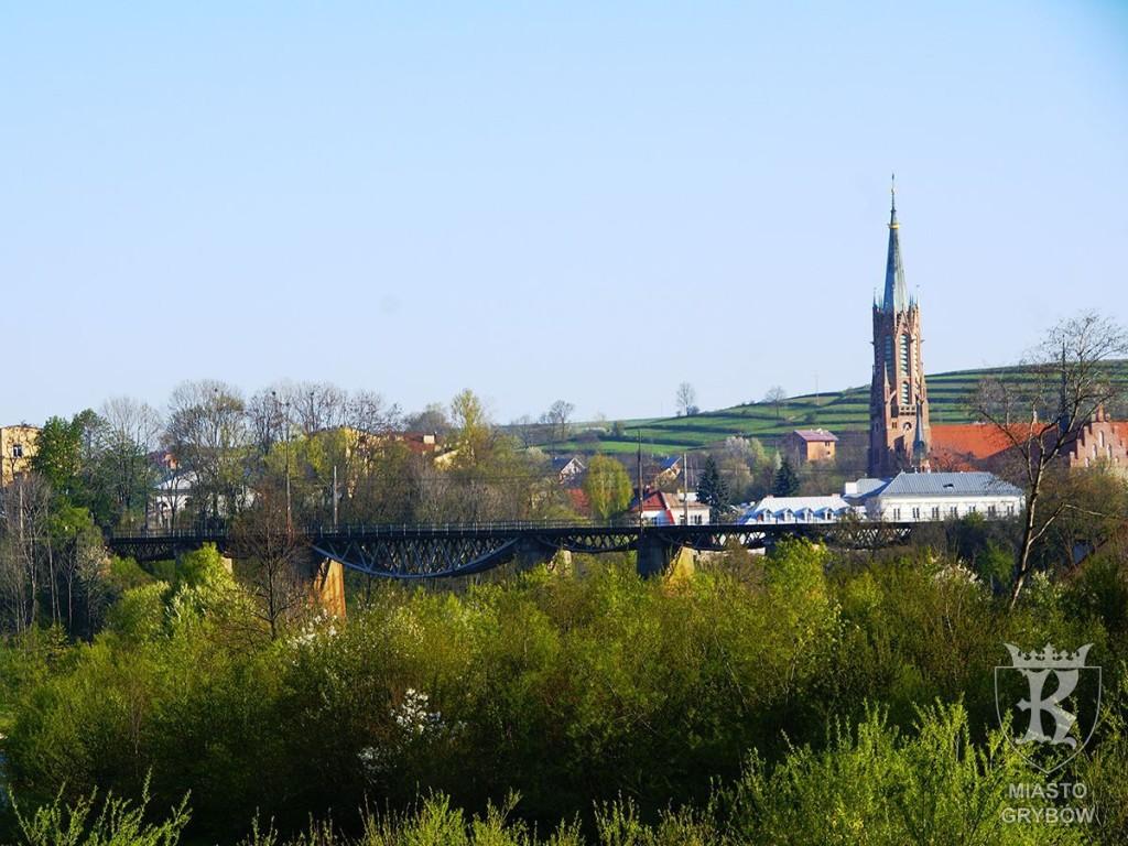 Wizytówka Grybowa: Widok mostu kolejowego, fot. Janusz Rola (2009)