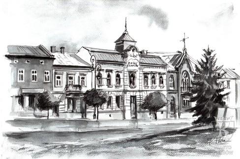Miasto Grybów - malowane widoki (autor: Bogdan Albin)