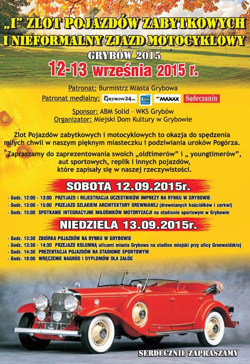 """Plakat """"IZlot Pojazdów Zabytkowych"""""""