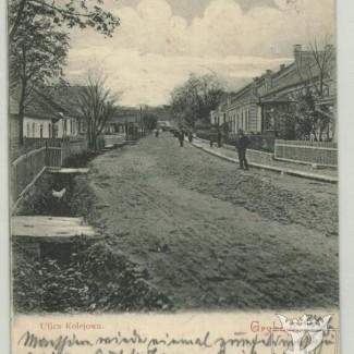 Grybów. Ulica Kolejowa