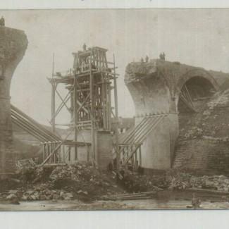 Grybów. Zniszczony most
