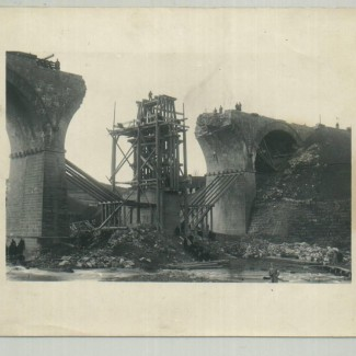 Grybów. Zniszczony wiadukt