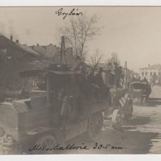 Grybów. Przemarsz wojsk w 1915 roku