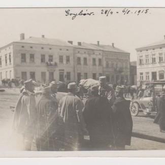 Grybów. Rynek w 1915 roku