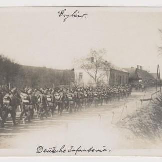 Grybów. Przemarsz wojsk w 1915 roku - droga na Stróże