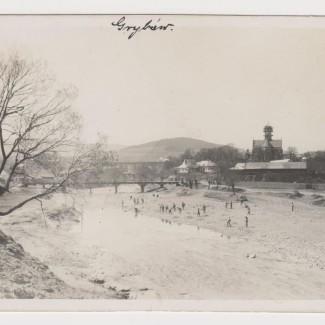 Grybów. Widok na miasto i kościół w 1915 roku