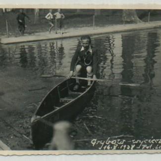 Grybów. Fotografia harcerza z 1938 roku