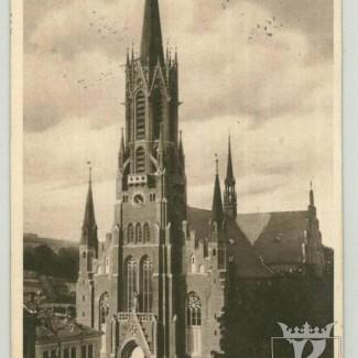 Grybów. Kościół parafialny projekt architekta Zdzisława Marczeńskiego z Warszawy