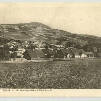 Grybów. Widok na ulicę Grunwaldzką i Kościuszki