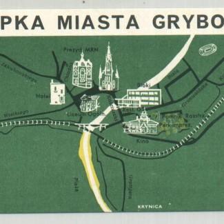 Grybów. Plan miasta Grybowa