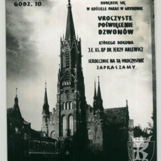 Grybów. Kościół - uroczyste poświęcenie dzwonów