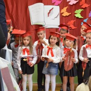 Ślubowanie uczniów klasy pierwszej Szkoły Podstawowej Nr 2 w Grybowie
