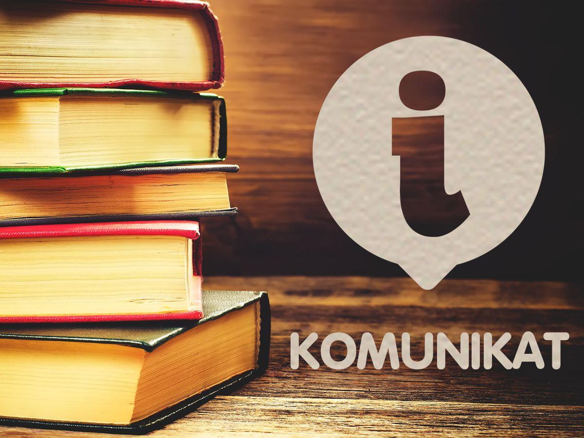 Komunikat Miejskiej Biblioteki Publicznej w Grybowie