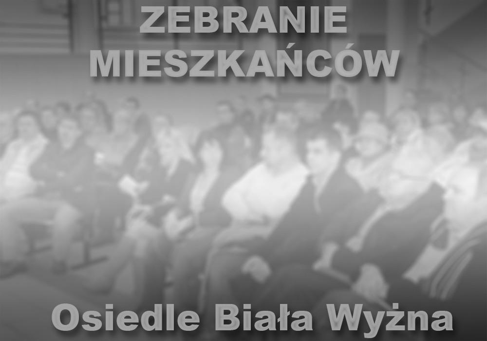 Zebranie mieszkańców: Osiedle Biała Wyżna