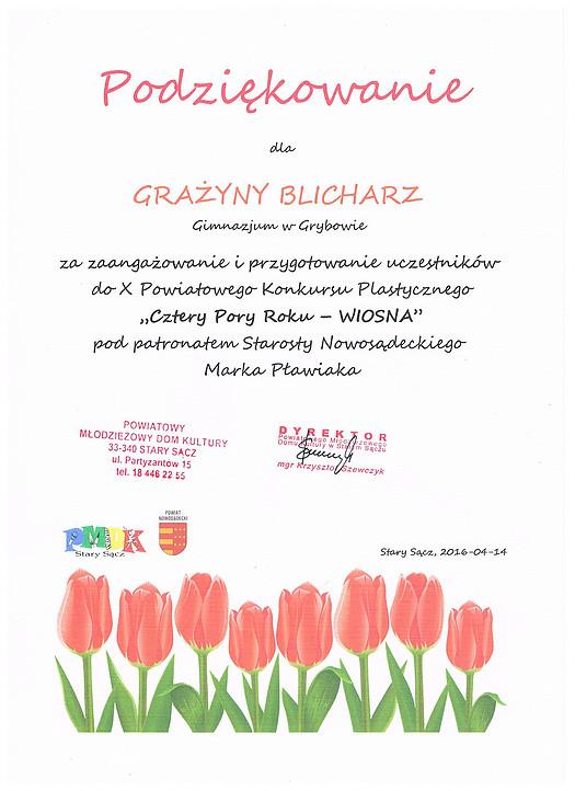 """2016-04-14: Konkurs """"Cztery pory roku"""""""