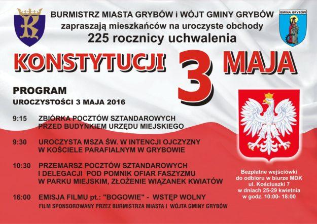 Narodowe Święto Konstytucji - Plakat