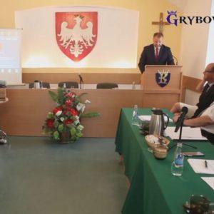 XXIII Sesja Rady Miejskiej w Grybowie Sala posiedzeń Urzędu Miejskiego w Grybowie