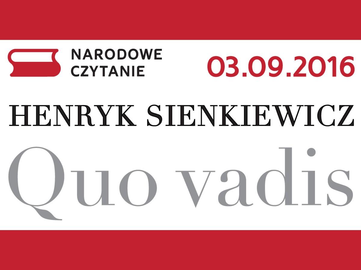 Narodowe czytanie Sienkiewicza