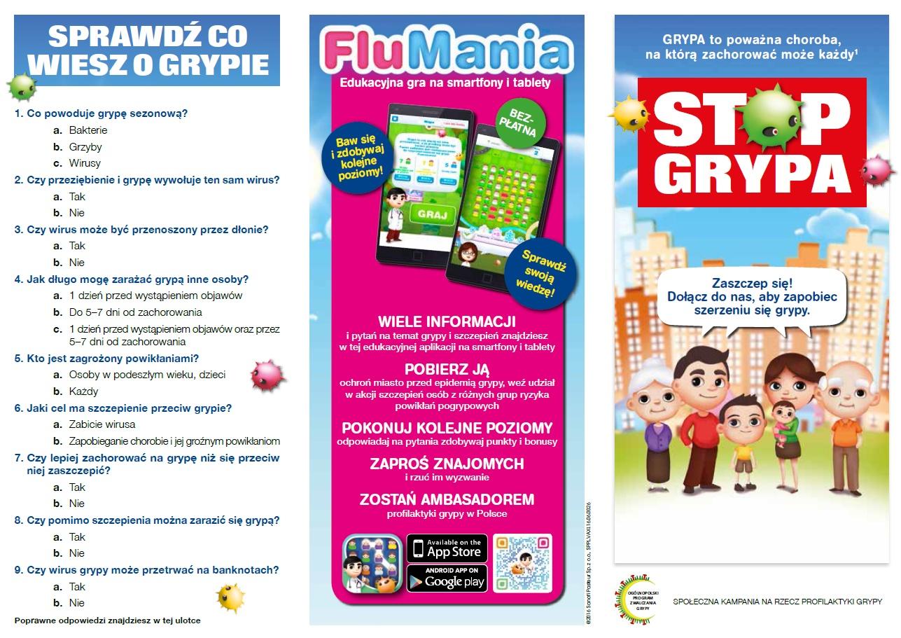 FluMania: Edukacyjna gra nasmartfony itablety