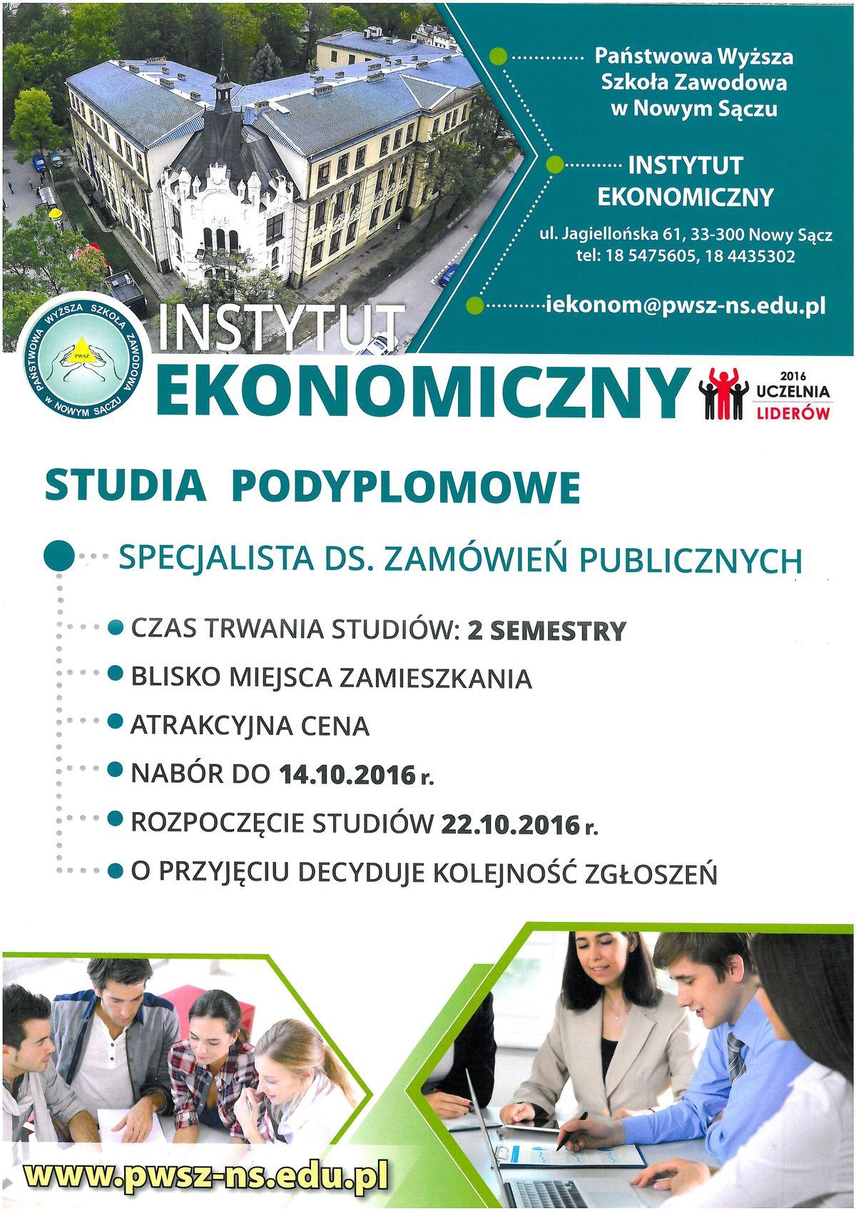 Instytut Ekonomiczny PWSZ wNowym Sączu