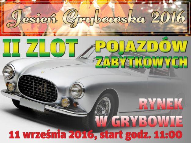 Jesień Grybowska 2016: Zlot pojazdów zabytkowych