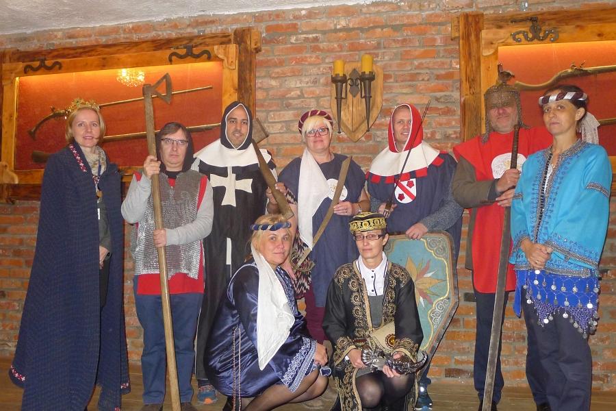 Wizyta w Gimnazjum w Grybowie - nauczyciele z Norwegii i Portugalii